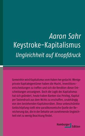 Aaron Sahr - Keystroke-Kapitalismus